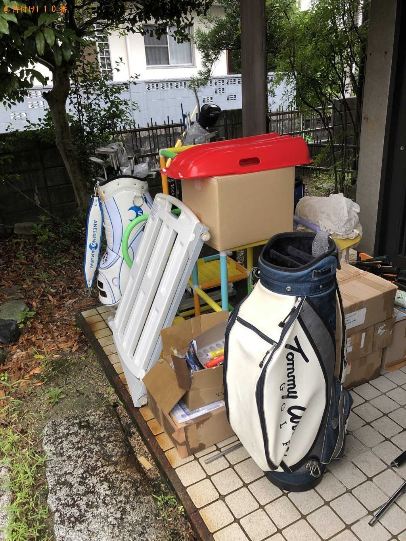 【北九州市小倉南区】ゴルフバッグ、子供用のジャングルジム等の回収