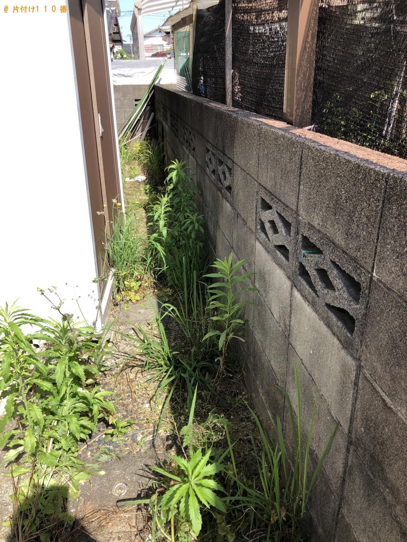 【北九州市】草刈りとガラスケース、自転車、三輪車、植木鉢等の回収