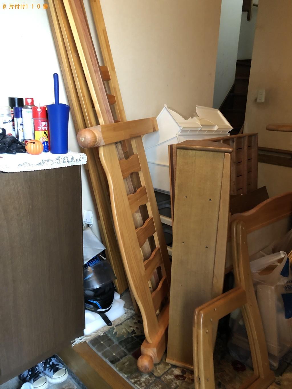 【北九州市小倉南区】学習机、ベッド枠の回収・処分 お客様の声