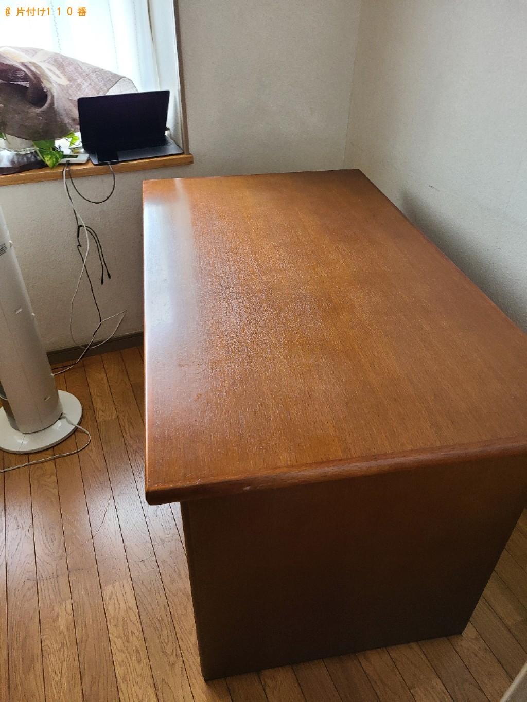 【北九州市八幡東区】セミダブルベッド、学習机、椅子等の回収・処分