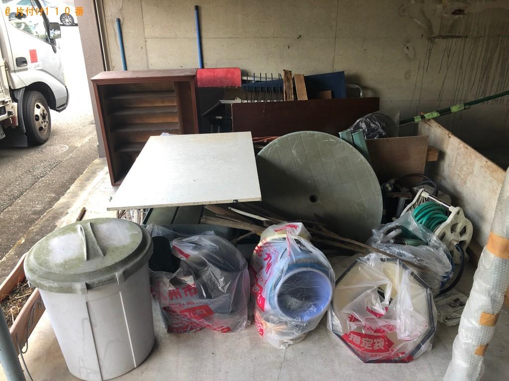【北九州市門司区】脚立、テーブル、ゴミ箱、ホース等の回収・処分