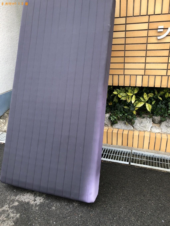 【北九州市八幡西区】マットレス付きシングルベッドの回収・処分