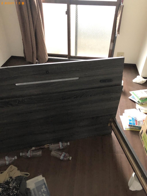 【北九州市小倉北区】マットレス付きセミダブルベッドの回収・処分