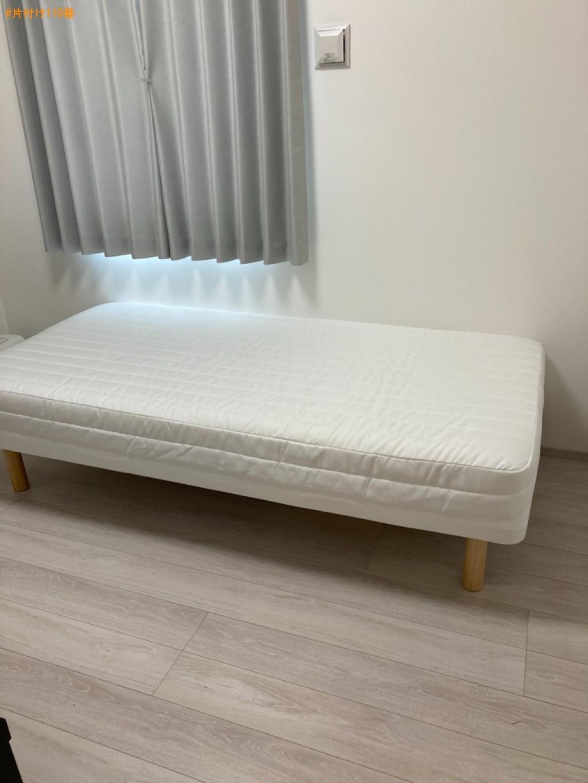 【北九州市】マットレス付きシングルベッドの回収・処分ご依頼