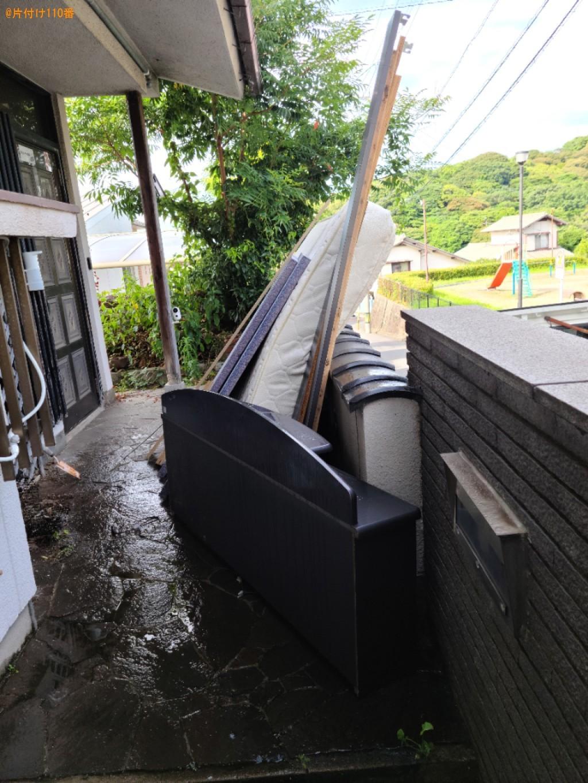 【北九州市小倉北区】マットレス付きダブルベッドの回収・処分ご依頼