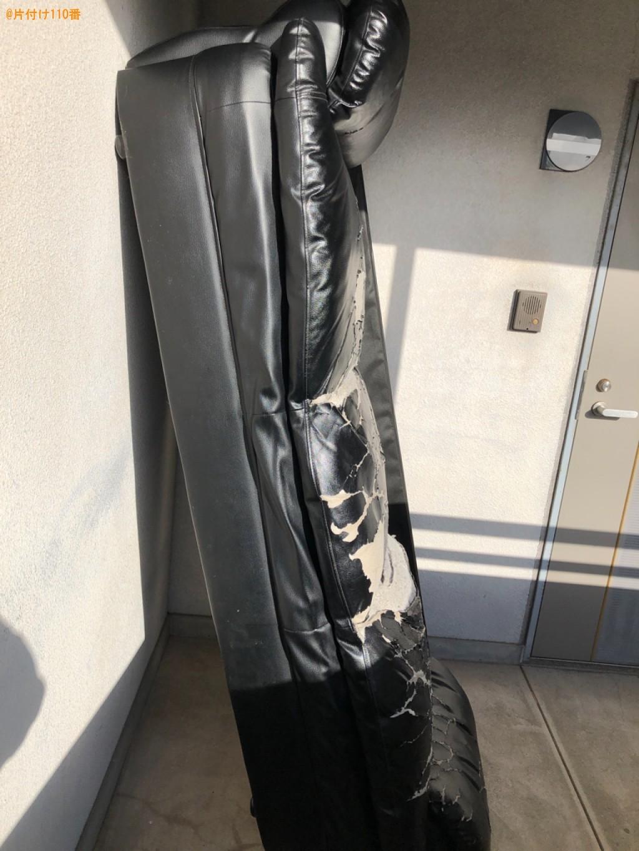 【北九州市小倉南区】三人掛けソファー、セミダブルマットレスの回収